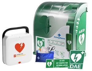 Pack défibrillateur Extérieur CR2